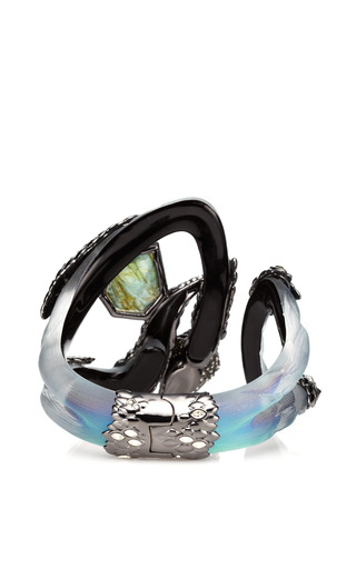 Alexis Bittar - Imperial Noir Extra Large Crystal Lace Snake Bracelet
