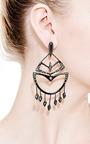 Miss Havisham Encrusted Chandelier Earring by Alexis Bittar for Preorder on Moda Operandi