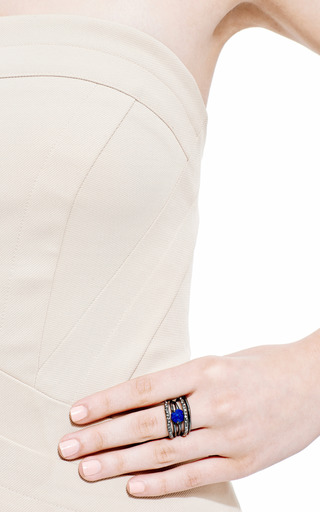 Miss Havisham Rotating Stack Lapis Ring by Alexis Bittar for Preorder on Moda Operandi