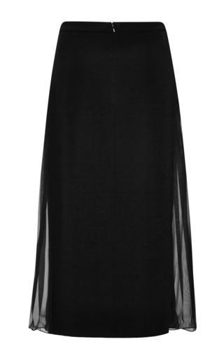 Derek Lam 10 Crosby - Downtown Crepe Skirt With Sheer Side Panel