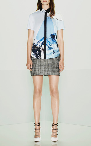 Cotton Draped Back Blouse by Prabal Gurung for Preorder on Moda Operandi