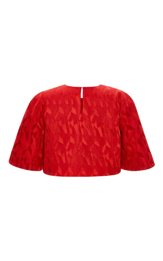 Prabal Gurung - Textured Jacquard Cropped Blouse