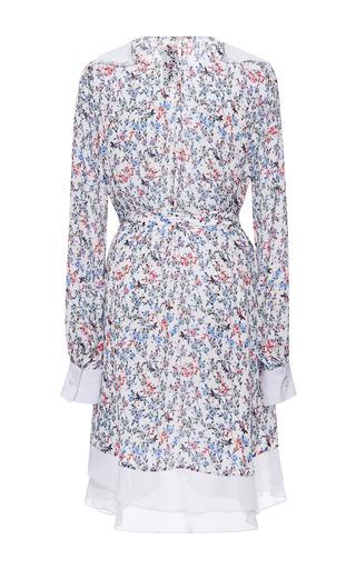 Prabal Gurung - Printed Georgette Long Sleeve Dress