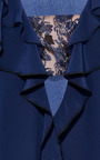 Prabal Gurung - Crepe De Chine Layered Ruffle Open Neck Blouse