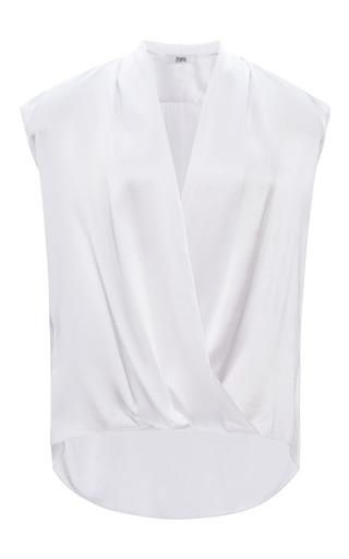Prabal gurung charmeuse draped v-neck blouse by PRABAL GURUNG Now Available on Moda Operandi