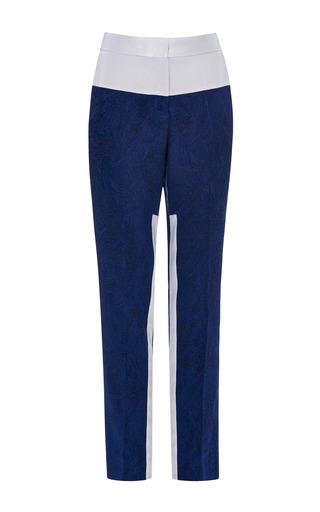 Prabal gurung solid jacquard cropped tapered pants by PRABAL GURUNG Preorder Now on Moda Operandi