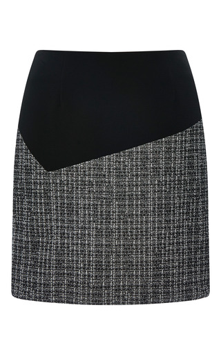 Jersey tweed graphic combo pencil skirt by PRABAL GURUNG Preorder Now on Moda Operandi