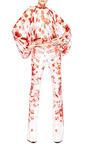 Giambattista Valli Carnation Georgette Kimono Blouse by Giambattista Valli for Preorder on Moda Operandi