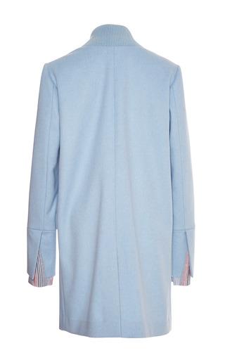 Thakoon - Powder Blue Ribbed Lapel Coat
