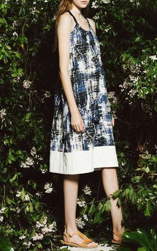 Sea - Brushstroke Cotton Tank Dress