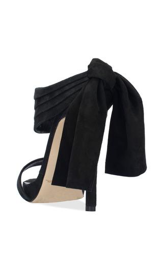 Sandy Platform Sandal In Black Suede And Satin by Oscar de la Renta for Preorder on Moda Operandi