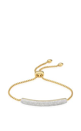 Esencia Diamond Full Pave Chain Bracelet In Yellow Gold by Monica Vinader for Preorder on Moda Operandi