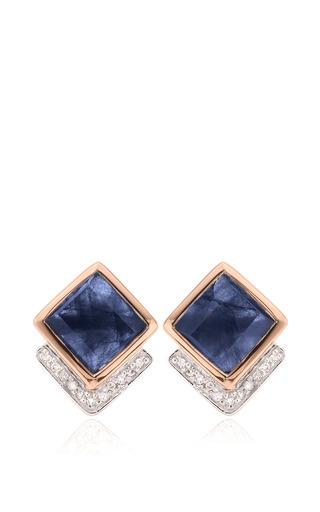 Monica Vinader - Baja Precious Earrings In Blue Sapphire And Diamond
