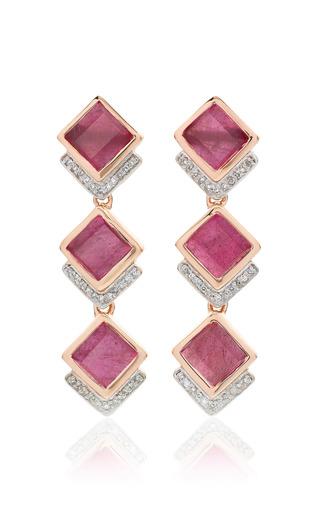 Monica Vinader - Baja Precious Cocktail Earrings In Ruby And Diamond