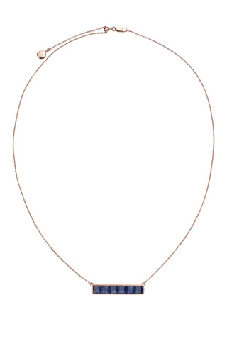 Monica Vinader - Baja Precious Necklace In Blue Sapphire