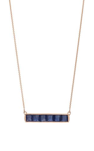 Baja Precious Necklace In Blue Sapphire by Monica Vinader for Preorder on Moda Operandi