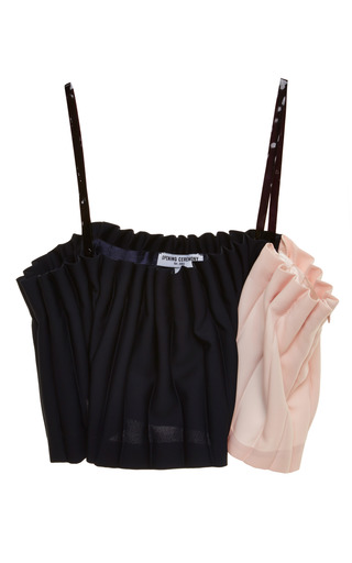 Lotte pleated bralette top by OPENING CEREMONY Preorder Now on Moda Operandi
