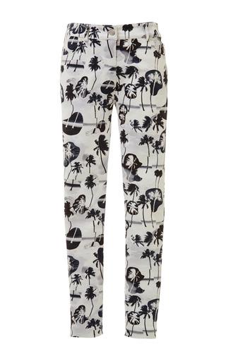 Palm collage denim skinny jean in black by OPENING CEREMONY Preorder Now on Moda Operandi