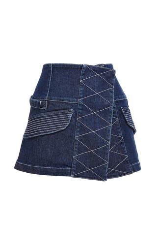 Finn denim cargo skirt by OPENING CEREMONY Preorder Now on Moda Operandi