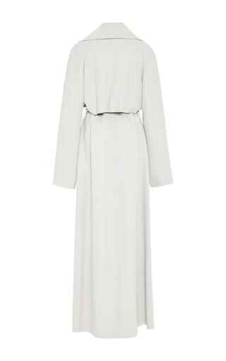 Mist Grey Floor-Length Trench Coat by Rosie Assoulin for Preorder on Moda Operandi