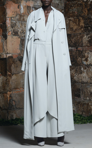 Rosie Assoulin - Mist Grey Floor-Length Trench Coat