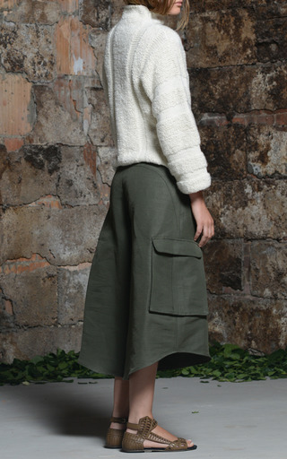 Rosie Assoulin - Shearling Stitch Hand Knit Sweater In Natural