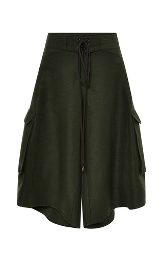 Olive board shorts by ROSIE ASSOULIN Preorder Now on Moda Operandi