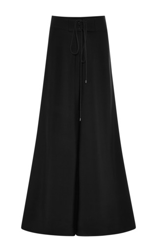 Black crepe surf pants by ROSIE ASSOULIN Now Available on Moda Operandi