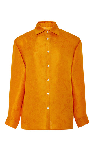 Satsuma floral jacquard button down shirt by ROSIE ASSOULIN Now Available on Moda Operandi
