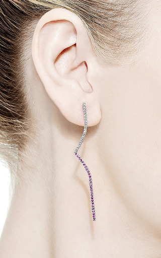 Elisabeth Long Curved Bar Earrings by Paige Novick for Preorder on Moda Operandi