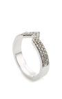 Celia Stacking Ring White Gold by PAIGE NOVICK for Preorder on Moda Operandi