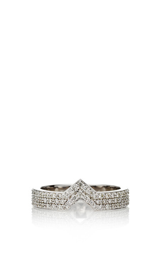 Celia Stacking Ring White Gold by Paige Novick for Preorder on Moda Operandi