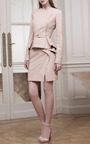 Blush Peplum Leather Skirt by Elie Saab for Preorder on Moda Operandi