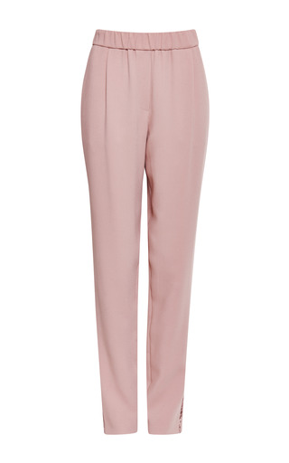 Blush lace insert pant by ELIE SAAB Preorder Now on Moda Operandi