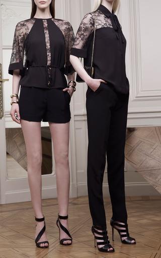 Elie Saab - Black Lace Sleeve Tunic