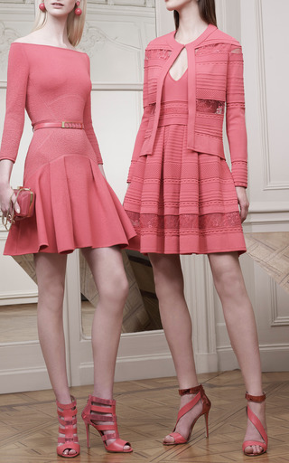 Begonia V-Neck Stripe Dress by Elie Saab for Preorder on Moda Operandi