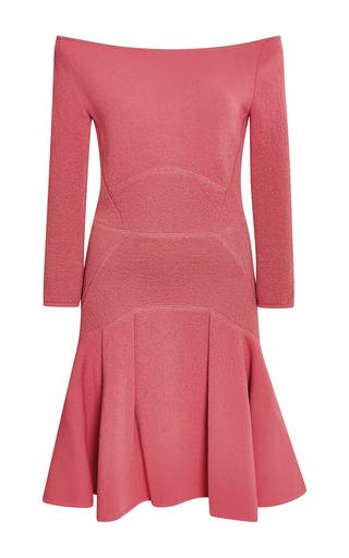 Elie saab begonia off-the-shoulder fitted dress by ELIE SAAB for Preorder on Moda Operandi
