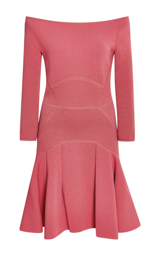 Elie saab begonia off-the-shoulder fitted dress by ELIE SAAB for Preorder on Moda Operandi