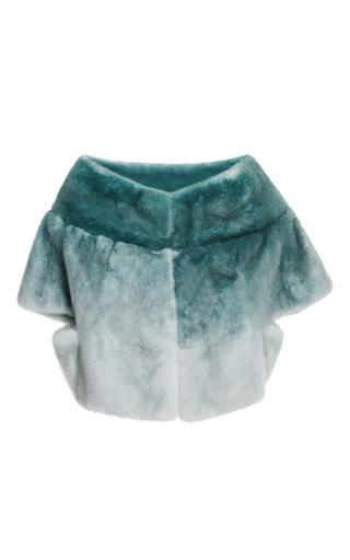 Ombre mint mink jacket by ELIE SAAB for Preorder on Moda Operandi
