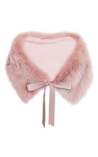 Blush fox stole by ELIE SAAB for Preorder on Moda Operandi