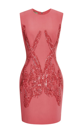 Begonia embroidered sleeveless dress by ELIE SAAB for Preorder on Moda Operandi