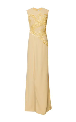 Iris embroidered cady gown by ELIE SAAB for Preorder on Moda Operandi