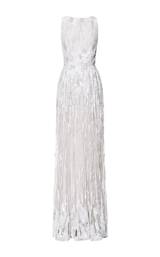 Jasmine embroidery gown by ELIE SAAB for Preorder on Moda Operandi