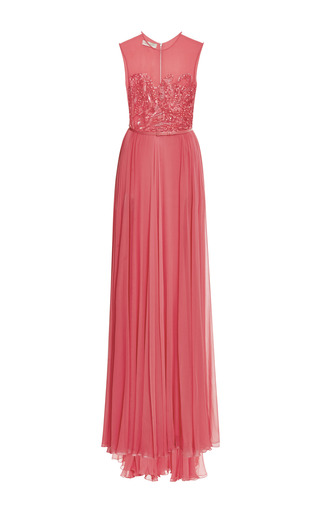 Begonia embroidered bodice gown by ELIE SAAB Preorder Now on Moda Operandi