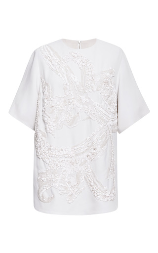 Jasmine embroidered cady top by ELIE SAAB for Preorder on Moda Operandi