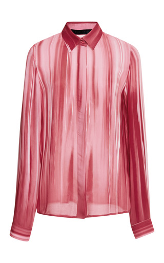 Begonia printed button down blouse by ELIE SAAB for Preorder on Moda Operandi