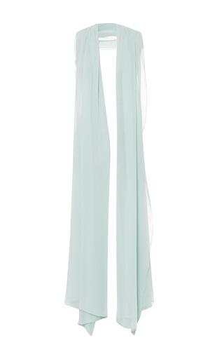 Mint silk georgette scarf by ELIE SAAB for Preorder on Moda Operandi