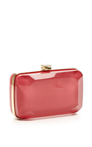 Begonia Small Stone-Shaped Plexi Clutch by Elie Saab for Preorder on Moda Operandi