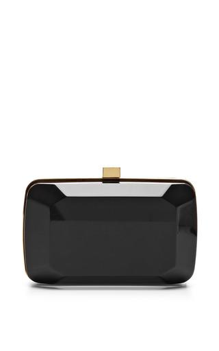 Black small stone-shaped plexi clutch by ELIE SAAB for Preorder on Moda Operandi