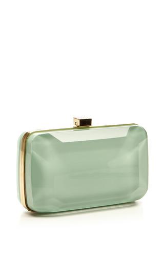 Mint Small Stone Shaped Plexi Clutch by ELIE SAAB for Preorder on Moda Operandi